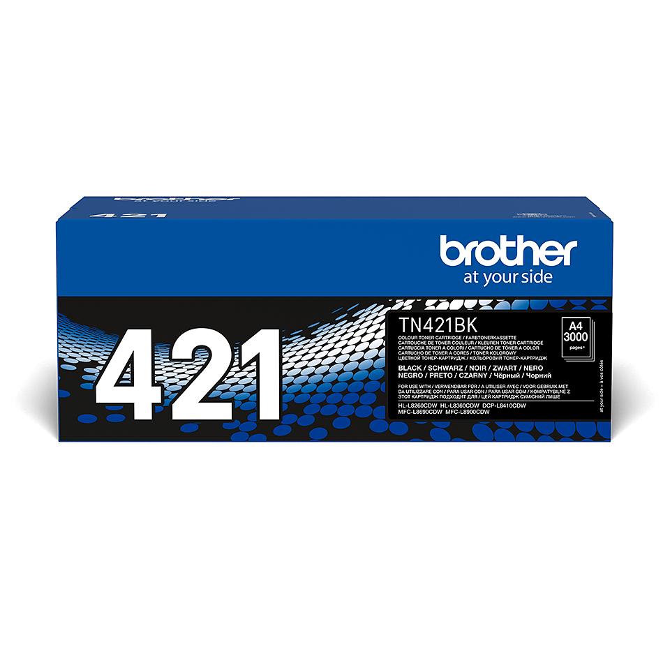 Brotherin alkuperäinen TN421BK-laservärikasetti - Musta 2