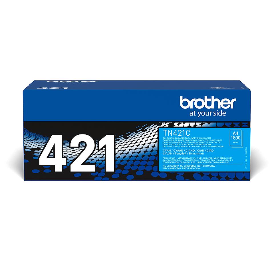 Brotherin alkuperäinen TN421C-laservärikasetti – Syaani