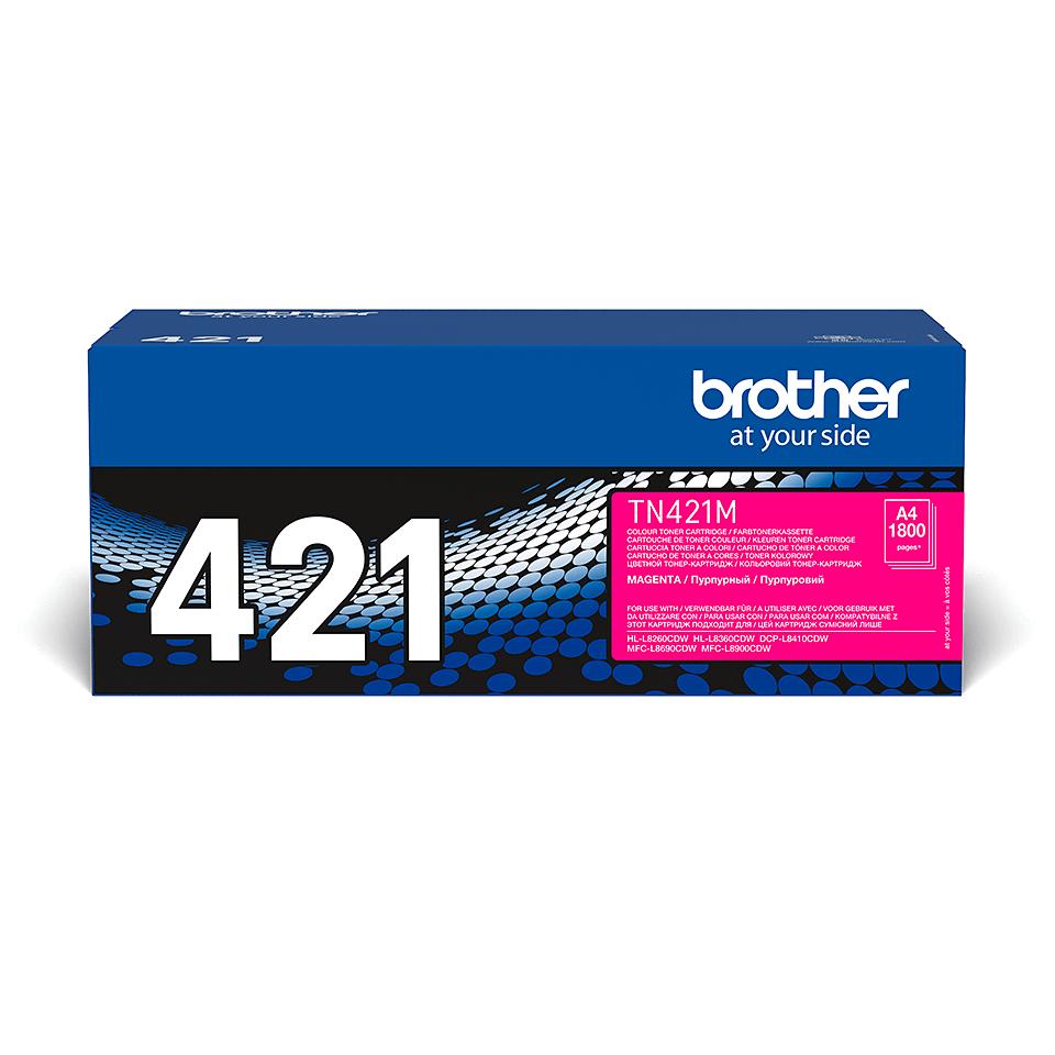 Brotherin alkuperäinen TN421M-laservärikasetti – Magenta