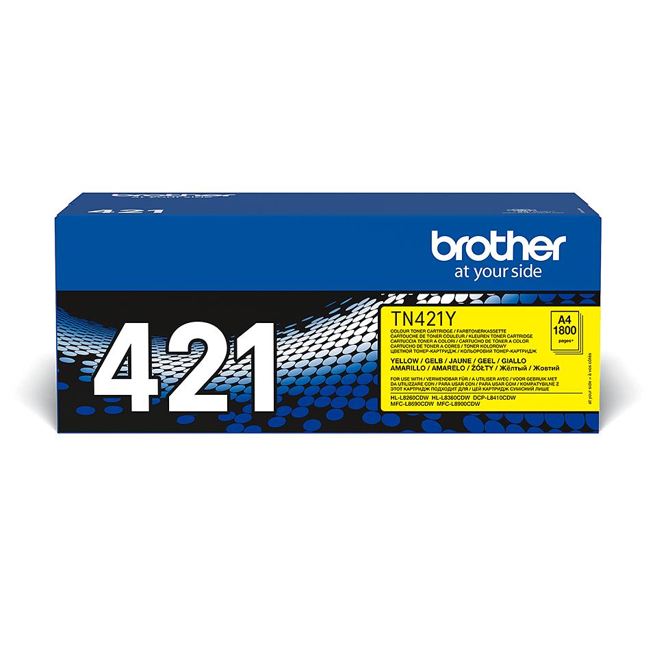 Brotherin alkuperäinen TN421Y-laservärikasetti – Keltainen 2