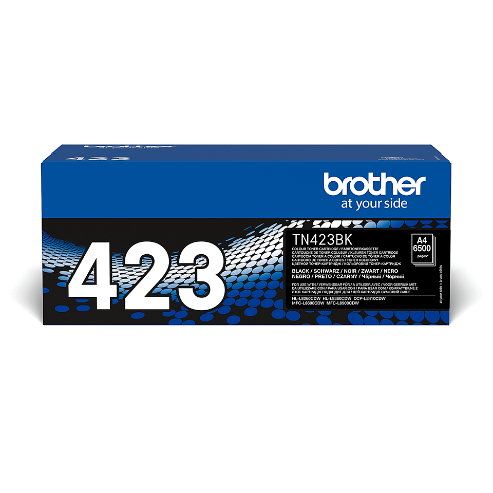 Brotherin alkuperäinen TN423BK-suurvärikasetti – Musta