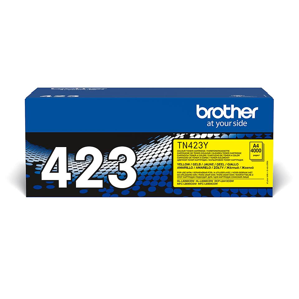 Brotherin alkuperäinen TN423Y-suurvärikasetti – Keltainen