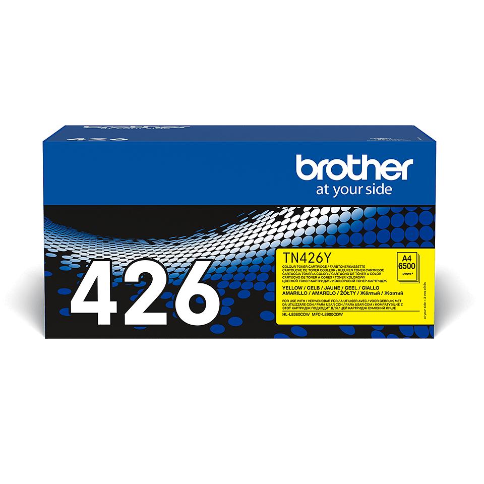Brotherin alkuperäinen TN426Y-supervärikasetti – Keltainen 2