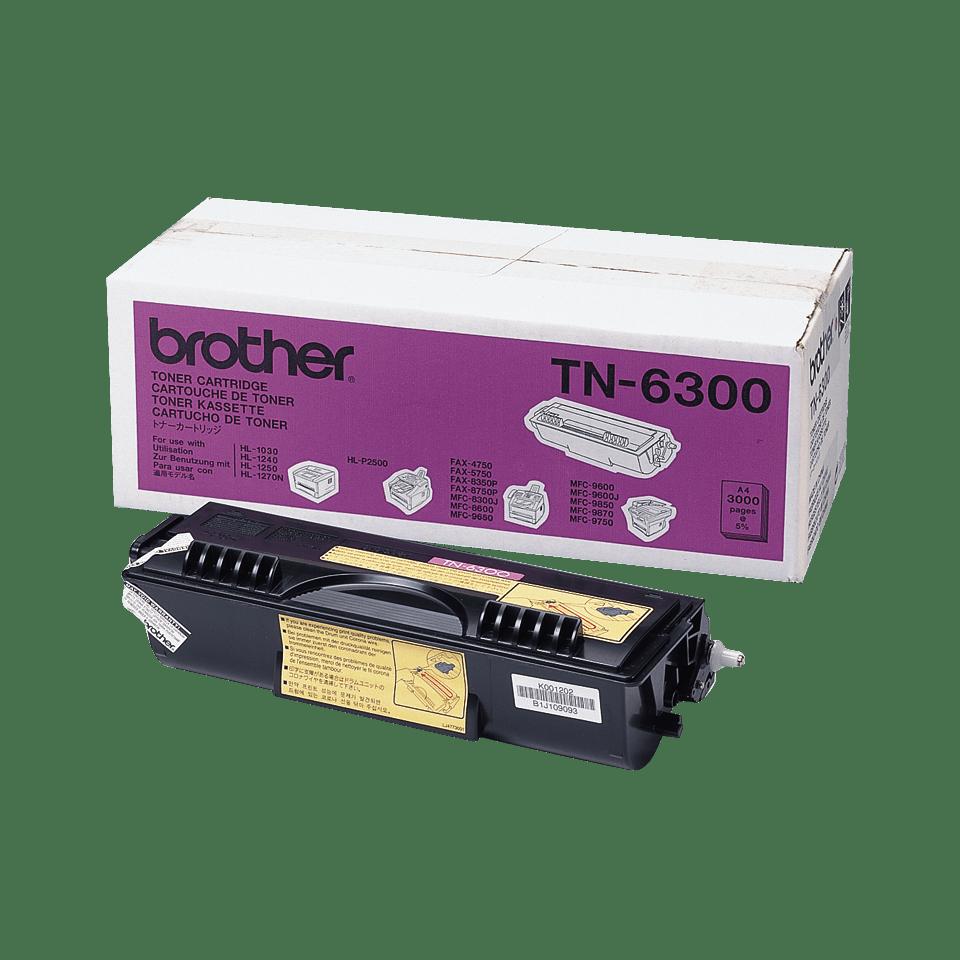 Brotherin alkuperäinen TN6300-laservärikasetti – Musta