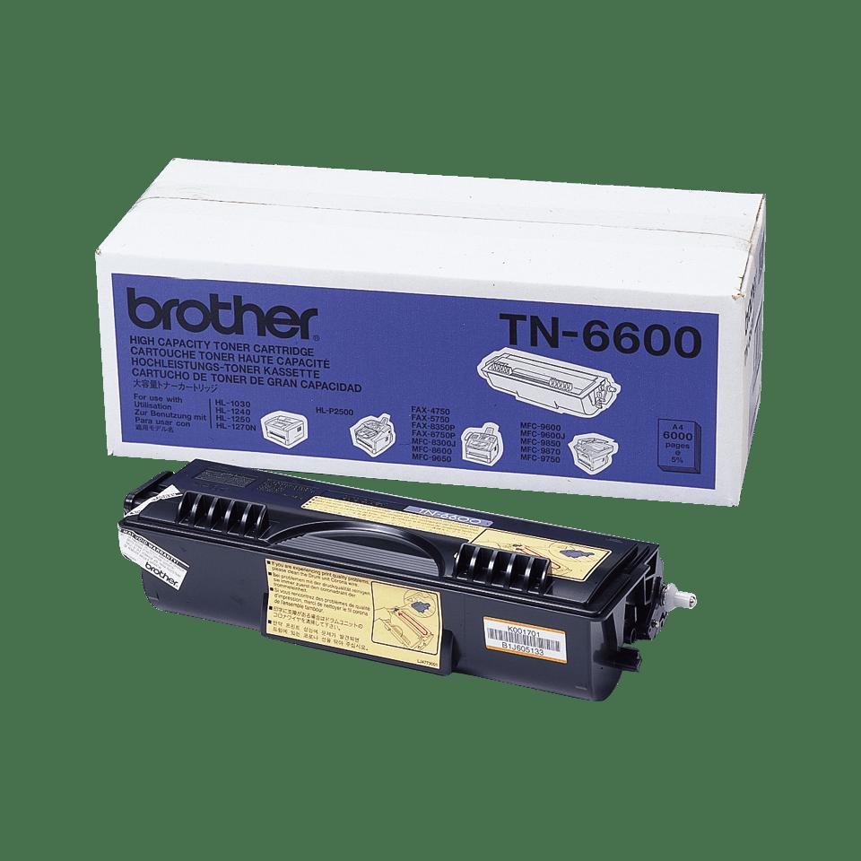 Brotherin alkuperäinen TN6600-laservärikasetti – Musta