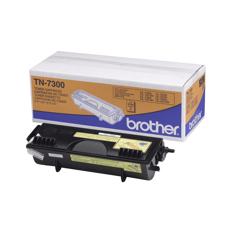 Brotherin alkuperäinen TN7300-laservärikasetti – Musta