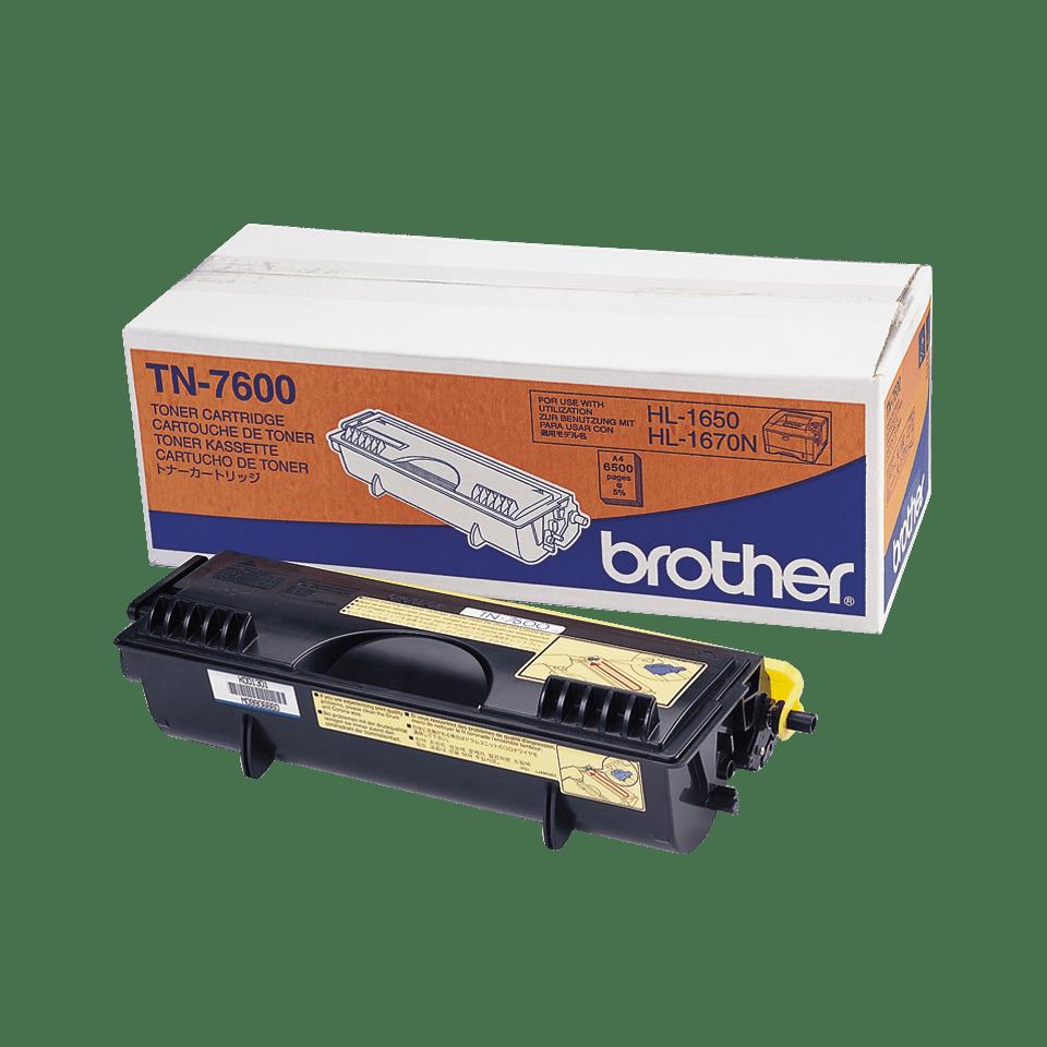 Brotherin alkuperäinen TN7600-laservärikasetti – Musta