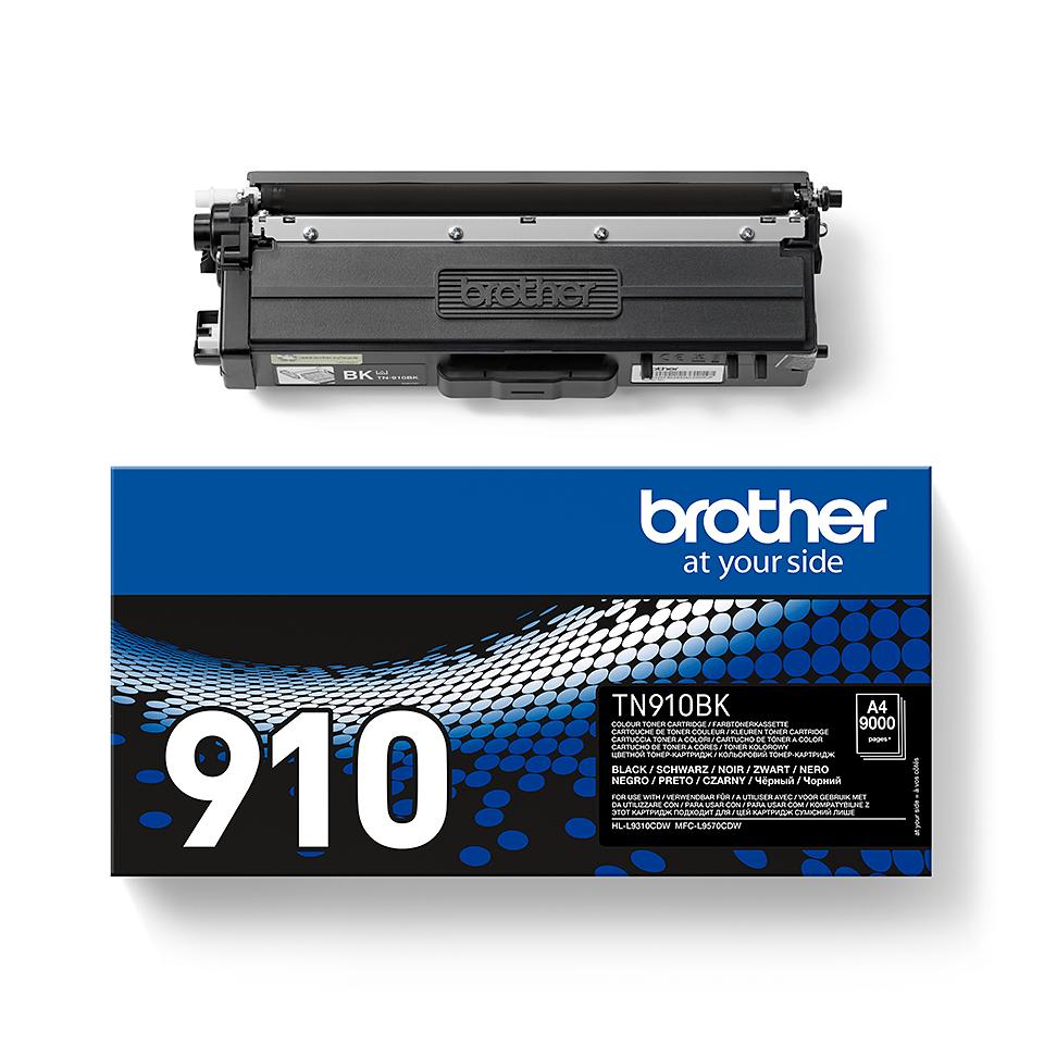 Brotherin alkuperäinen TN910BK-jättivärikasetti – Musta 2