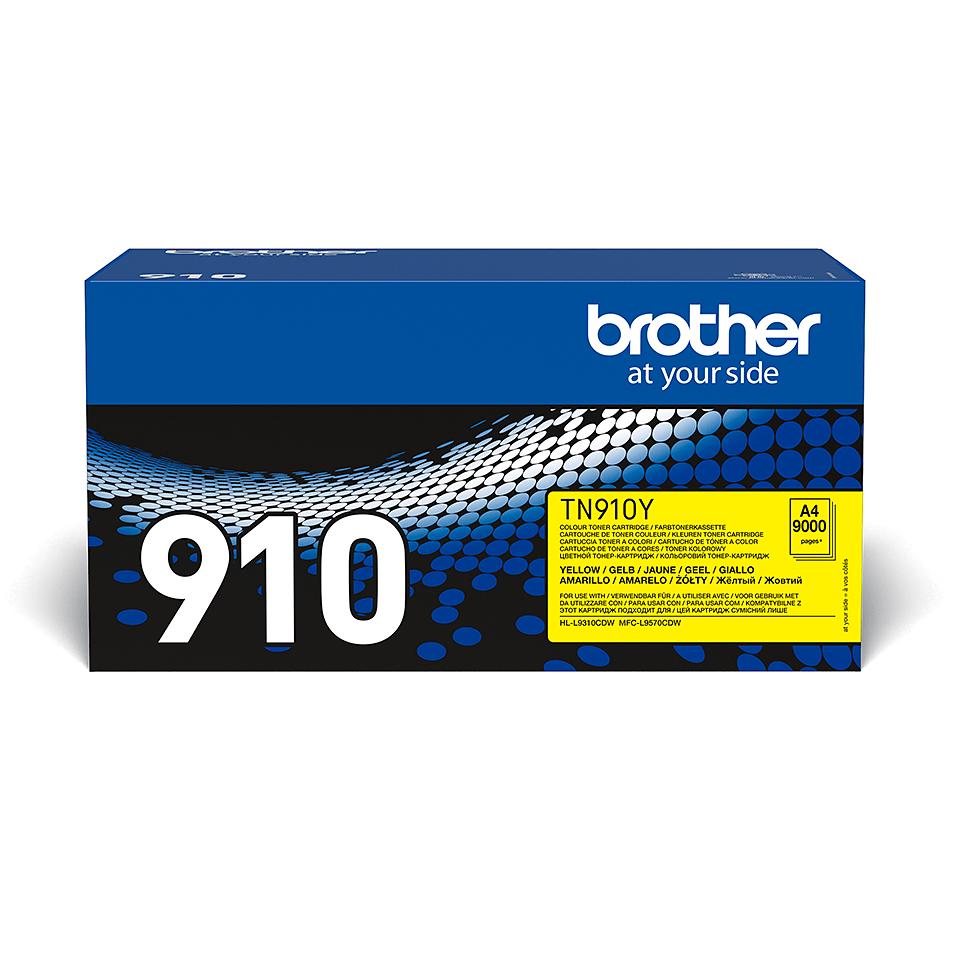 Brotherin alkuperäinen TN910Y-jättivärikasetti – Keltainen