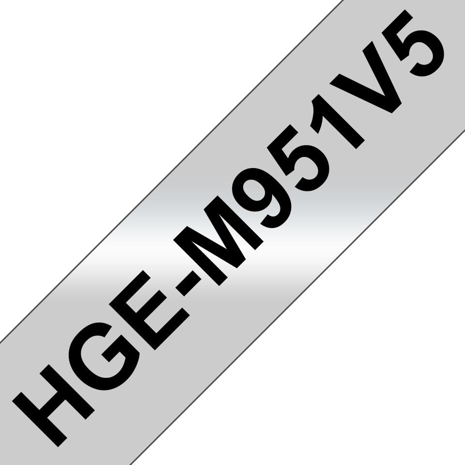 Brotherin alkuperäinen HGeM951V5 suurnopeustarra, musta teksti/mattahopea pohja, leveys 24 mm