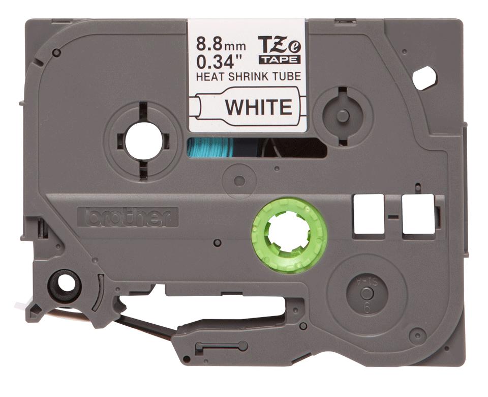 Alkuperäinen Brother HSe221 -kutistesukka – musta teksti valkoisella pohjalla, 8,8 mm