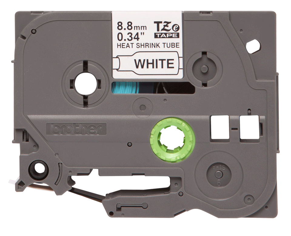 Alkuperäinen Brother HSe221 -kutistesukka – musta teksti valkoisella pohjalla, 8,8 mm 2
