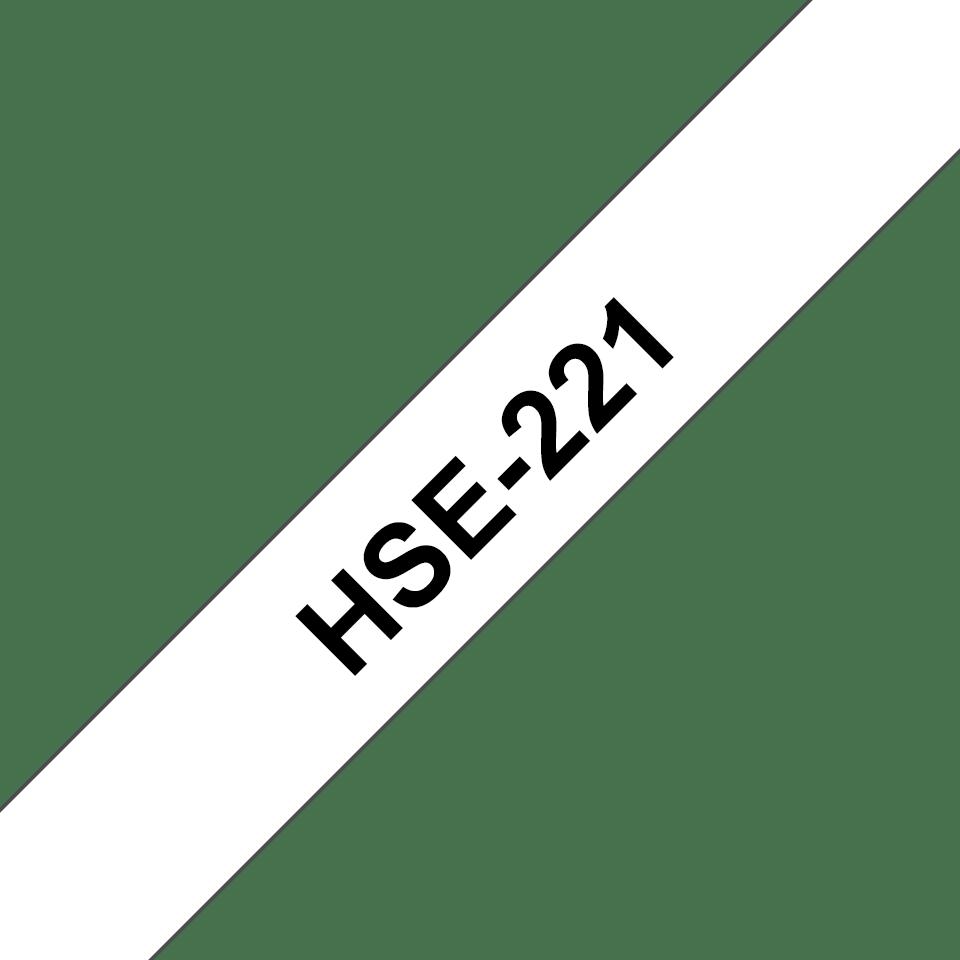Alkuperäinen Brother HSe221 -kutistesukka – musta teksti valkoisella pohjalla, 8,8 mm 3