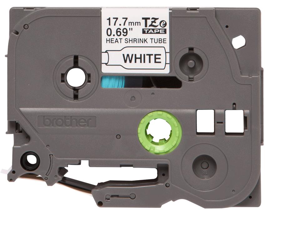Brotherin alkuperäinen HSe241-kutistesukka, musta teksti valkoisella pohjalla