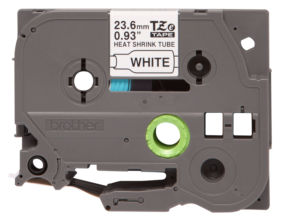 Alkuperäinen Brother HSe251 -kutistesukka –  musta teksti valkoisella pohjalla, 23,6 mm 2