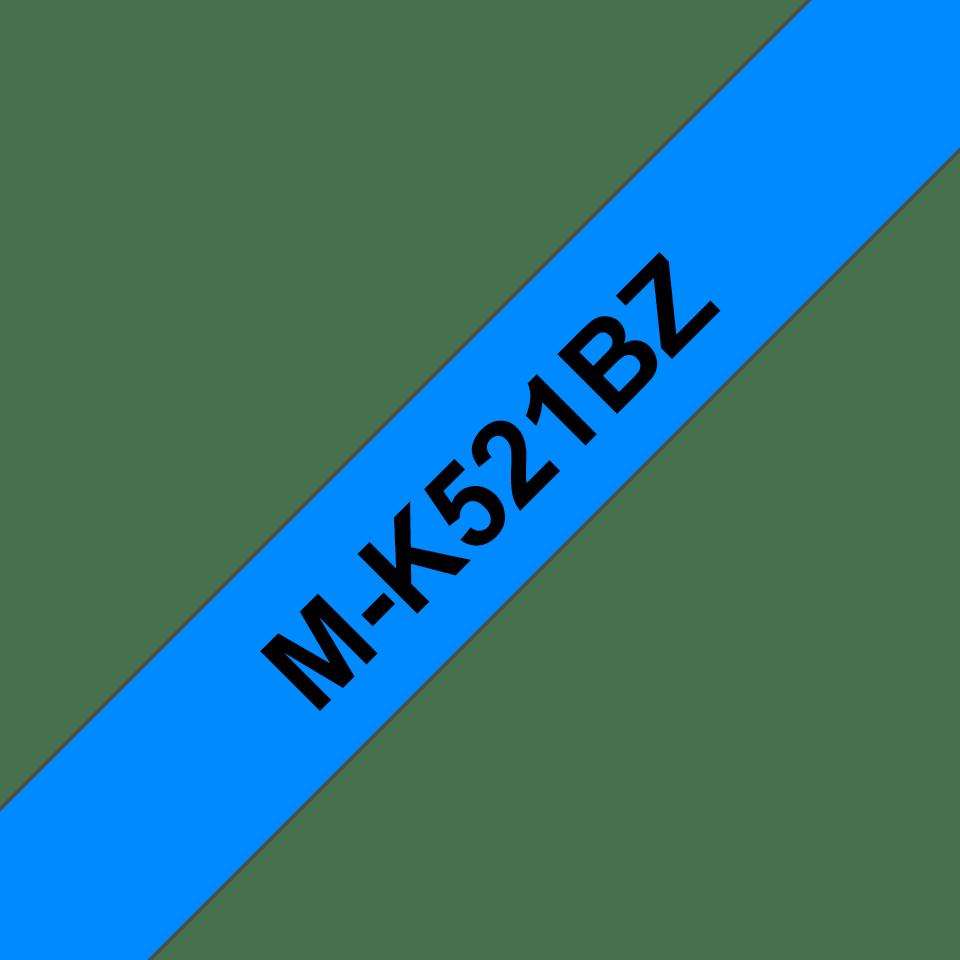 Genuine Brother M-K521BZ Labelling Tape Cassette – Black on Blue, 9mm wide