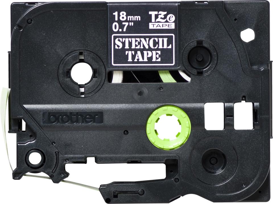 Brotherin alkuperäinen STe141-stensiilinauha - Musta, leveys 18 mm 2