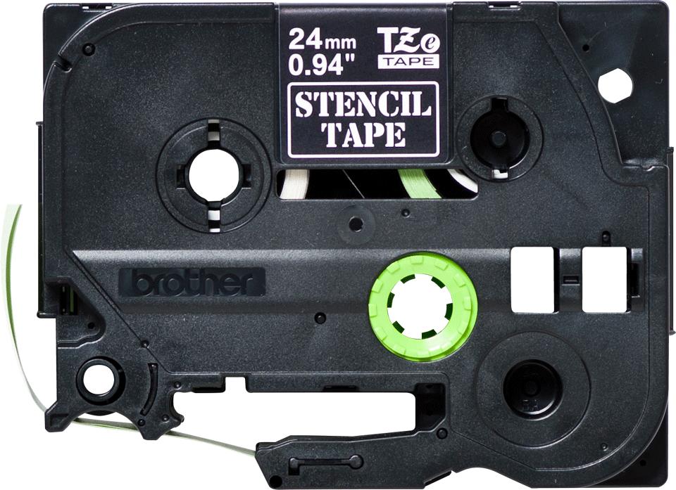 Brotherin alkuperäinen STe151-stensiilinauha - musta, leveys 24 mm 2