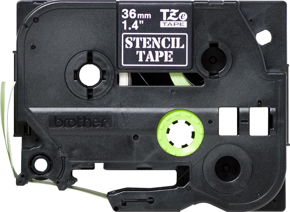Brotherin alkuperäinen STe161-stensiilinauha - Musta, leveys 36 mm