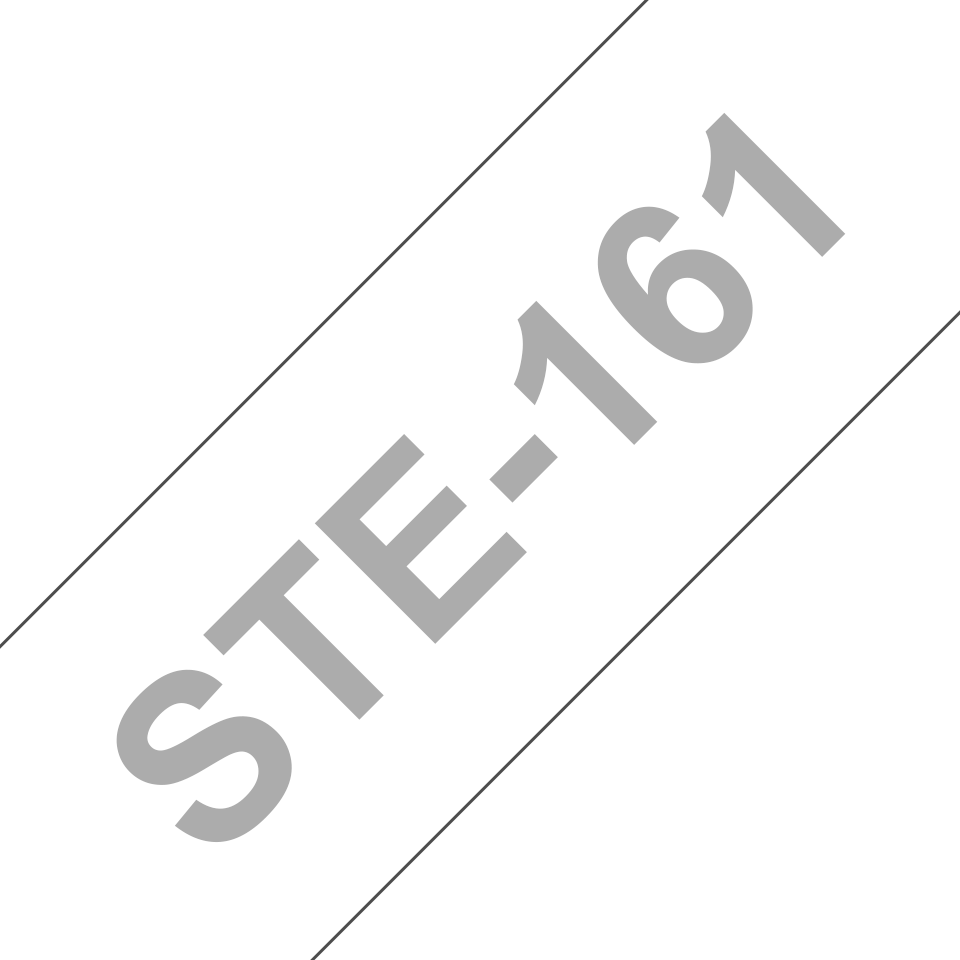 Brotherin alkuperäinen STe161-stensiilinauha - Musta, leveys 36 mm 3
