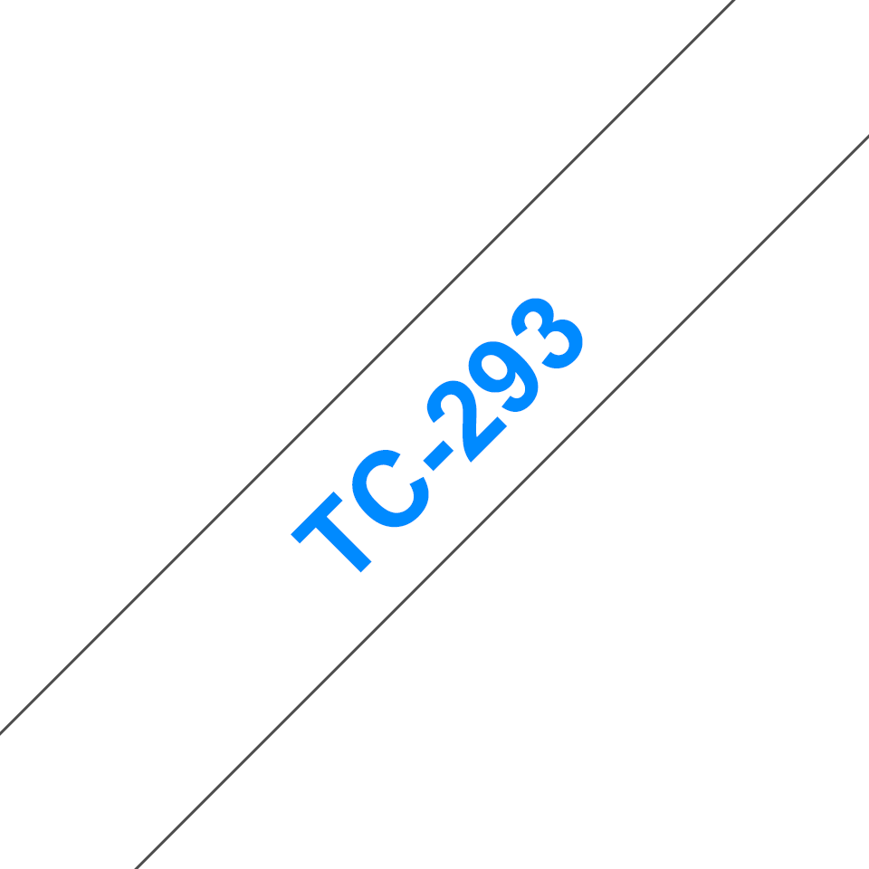 Genuine Brother TC-293 Labelling Tape Cassette – Blue on White, 9mm wide