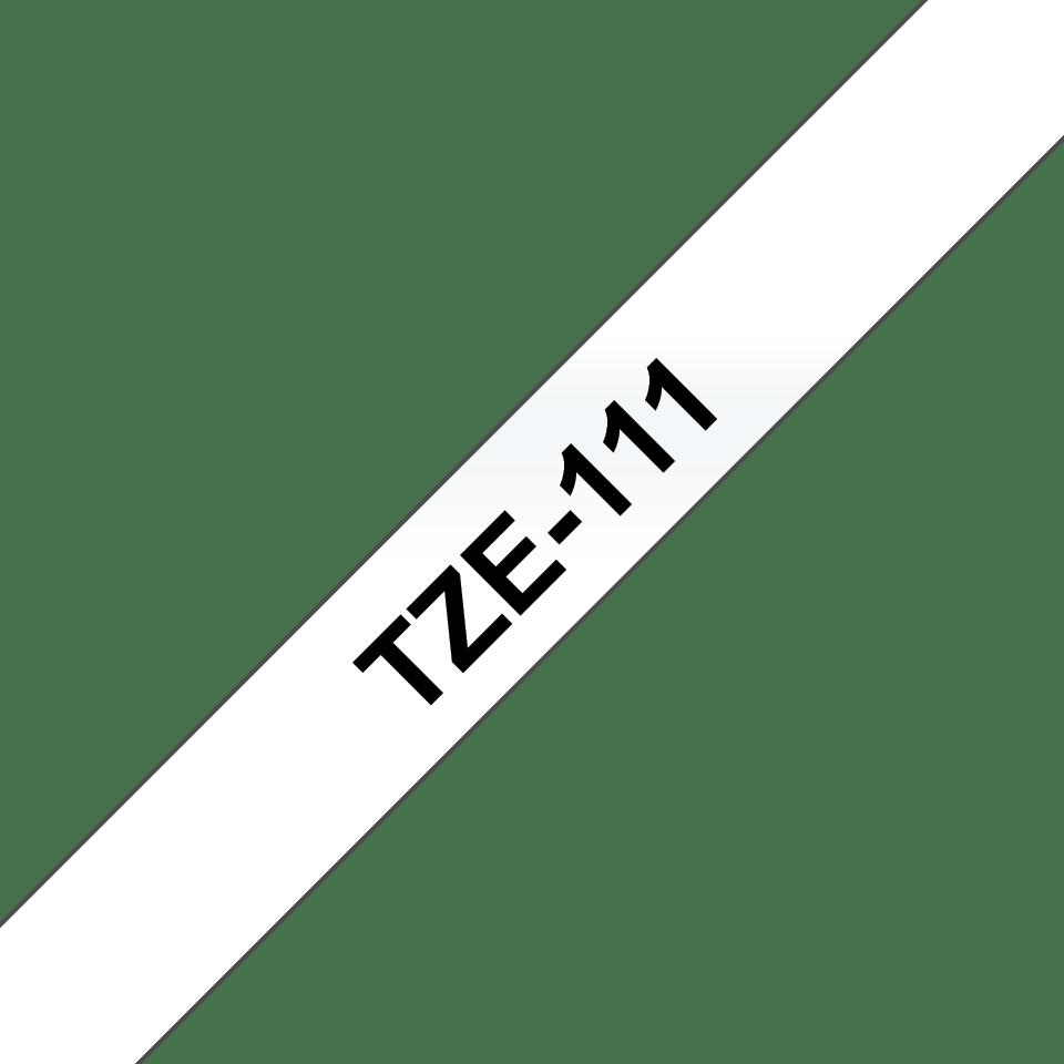 Brotherin alkuperäinen TZe111-tarranauha – Musta teksti kirkkaalla pohjalla, leveys 6 mm 3