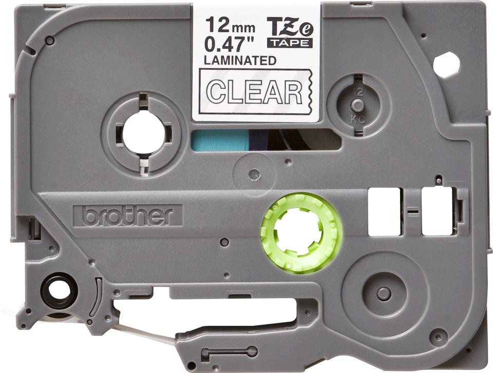 Alkuperäinen Brother TZe135 -tarranauha – valkoinen teksti kirkkaalla pohjalla, 12 mm 2