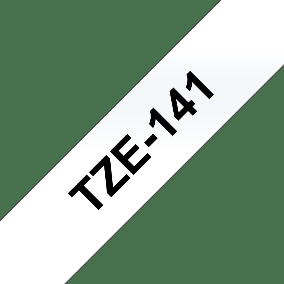 Alkuperäinen Brother TZe141 -tarranauha – musta teksti kirkkaalla pohjalla, leveys 18 mm 3