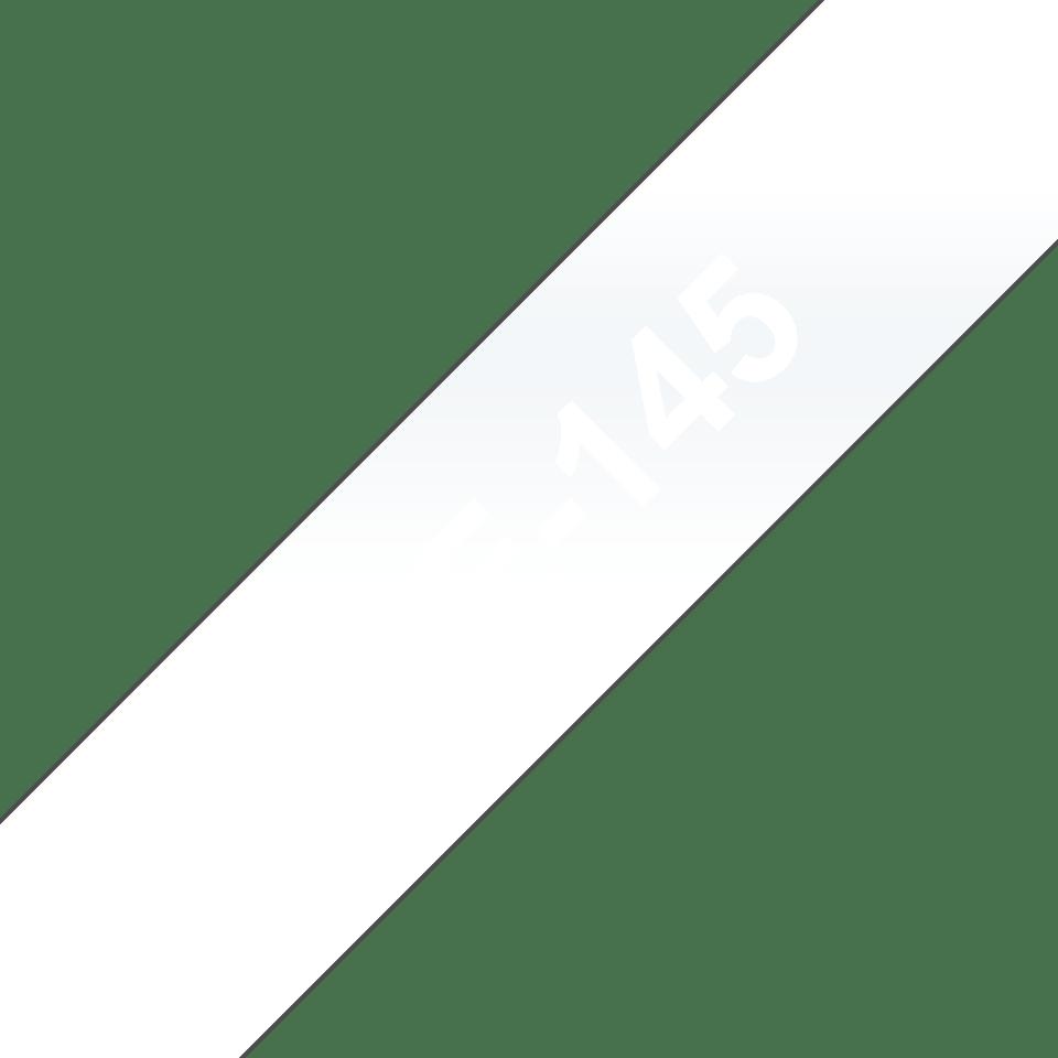 Alkuperäinen Brother TZe145 -tarranauha – valkoinen teksti kirkkaalla pohjalla, 18 mm
