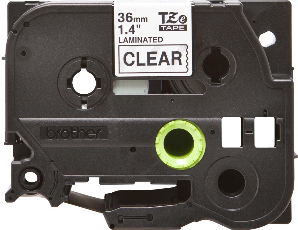 Alkuperäinen Brother TZe161 -tarranauha – musta teksti kirkkaalla pohjalla, 36 mm 2