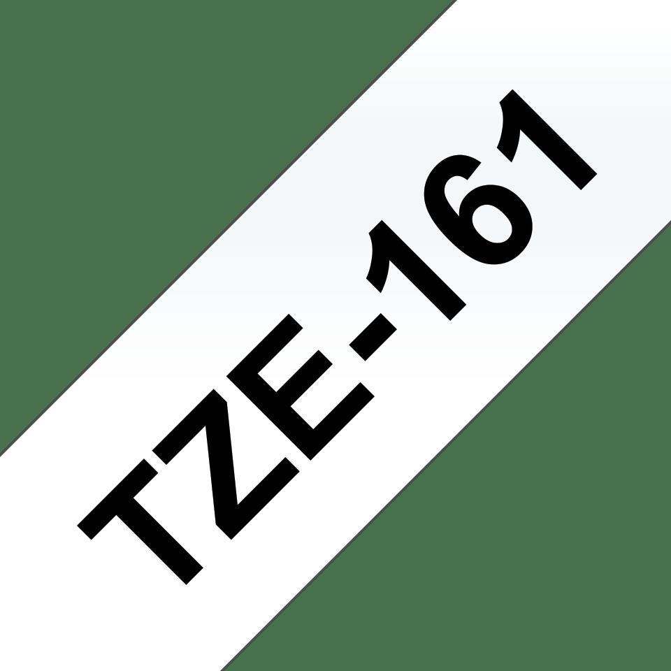 Brotherin alkuperäinen TZe161 -tarranauha – musta teksti kirkkaalla pohjalla, leveys 36 mm 3
