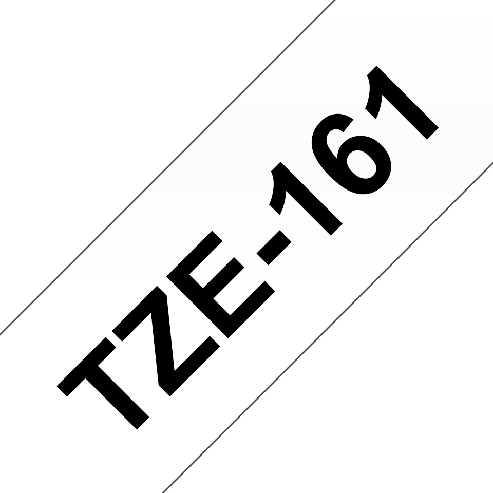 Alkuperäinen Brother TZe161 -tarranauha – musta teksti kirkkaalla pohjalla, 36 mm
