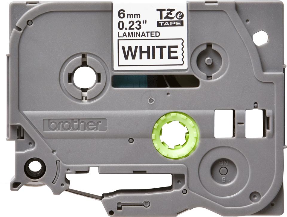 Alkuperäinen Brother TZe211 -tarranauha – musta teksti valkoisella pohjalla, 6 mm 2