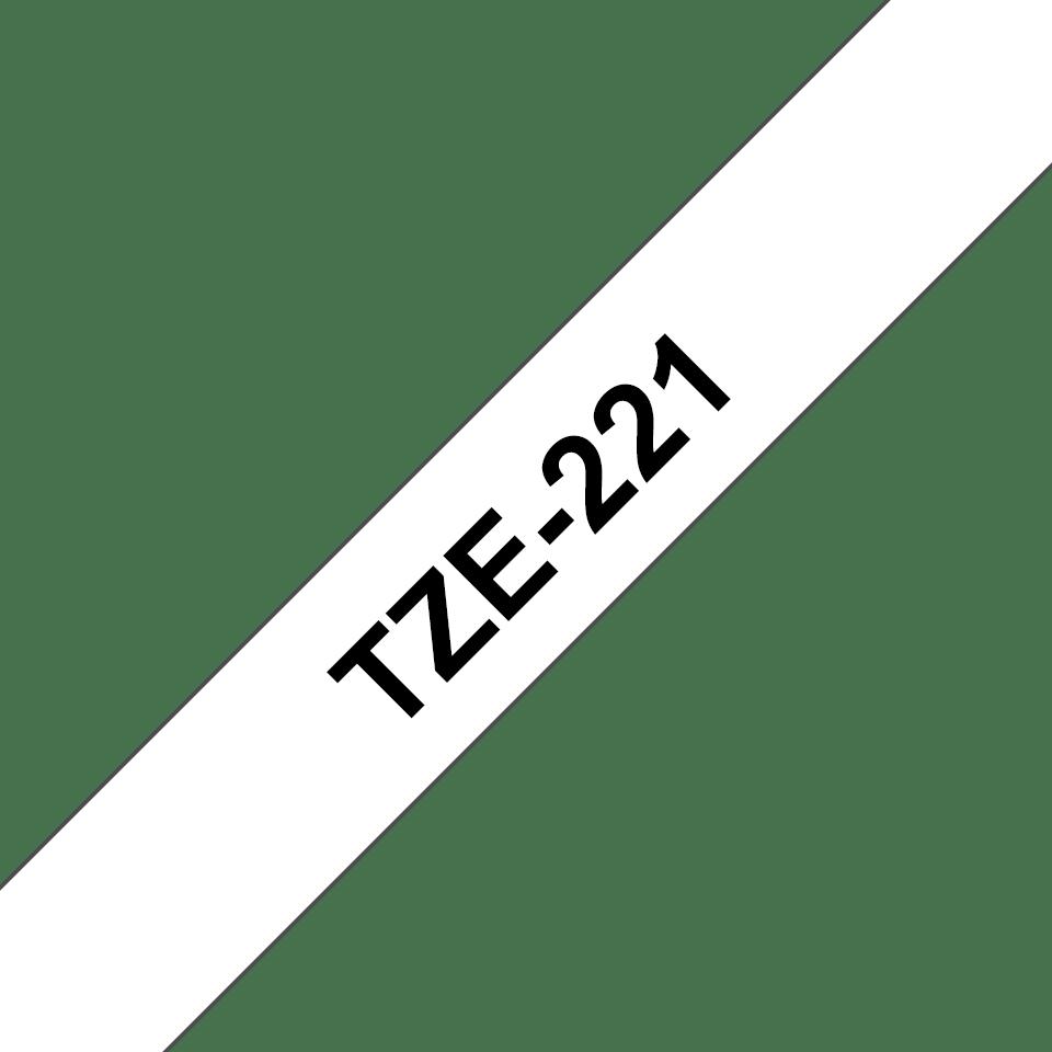Alkuperäinen Brother TZe221 -tarranauha – musta teksti valkoisella pohjalla, 9 mm.