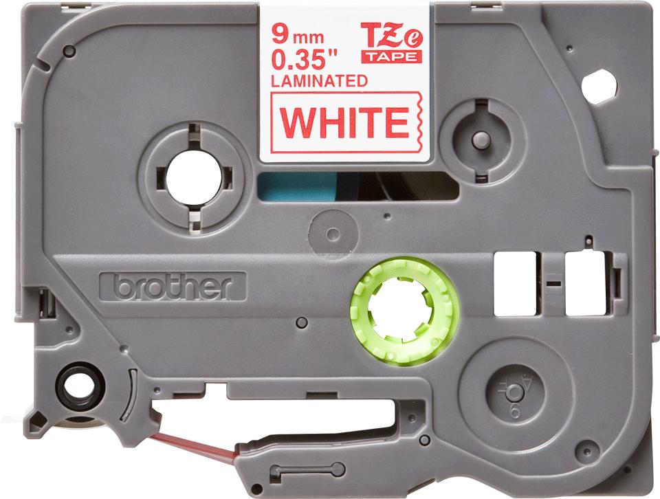 Brother alkuperäinen TZe222 -tarranauha – punainen teksti valkoisella pohjalla, leveys 9 mm