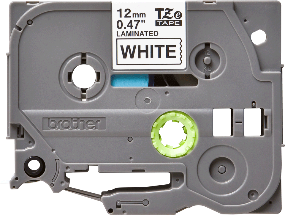 Alkuperäinen Brother TZe231 -tarranauha, musta teksti valkoisella pohjalla, leveys 12 mm