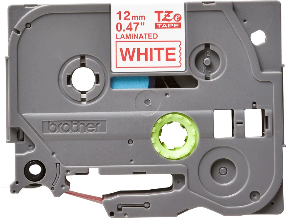 Alkuperäinen Brother TZe232 -tarranauha – punainen teksti valkoisella pohjalla, 12 mm 2
