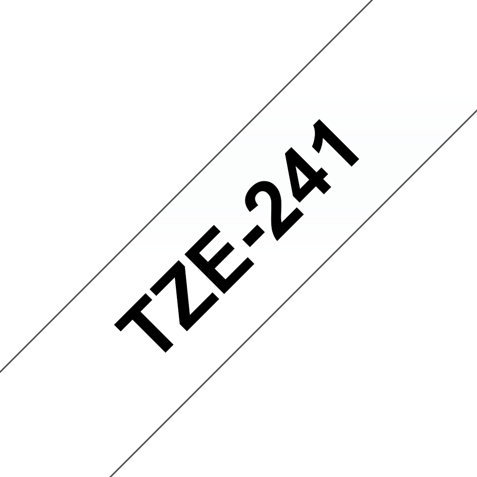 Alkuperäinen Brother TZe241-tarranauha – musta teksti valkoisella pohjalla, 18 mm  3