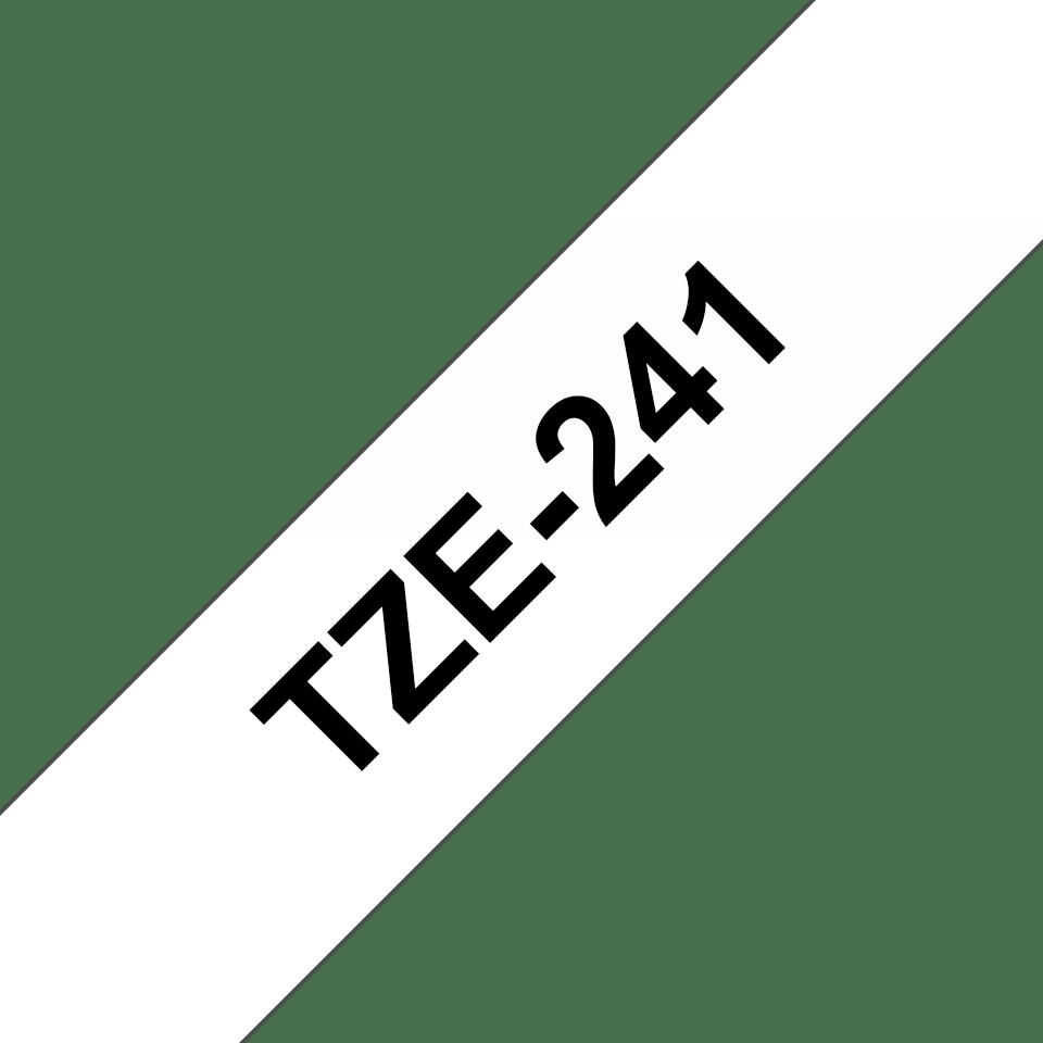 Alkuperäinen Brother TZe241-tarranauha – musta teksti valkoisella pohjalla, 18 mm