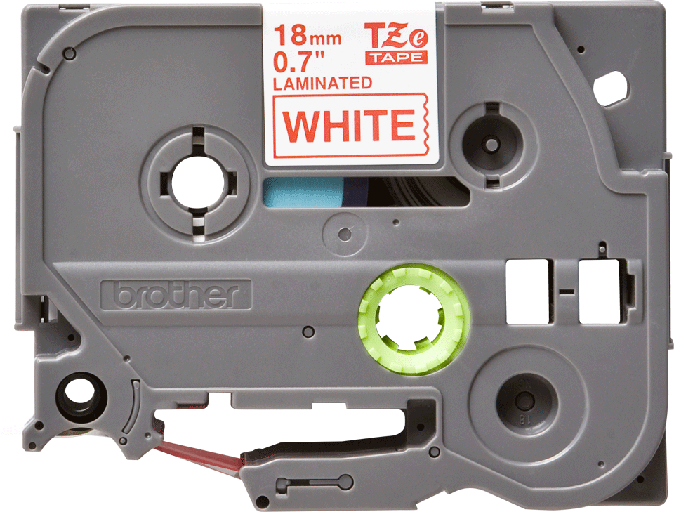 Alkuperäinen Brother TZe242 -tarranauha – punainen teksti valkoisella pohjalla, 18 mm 2