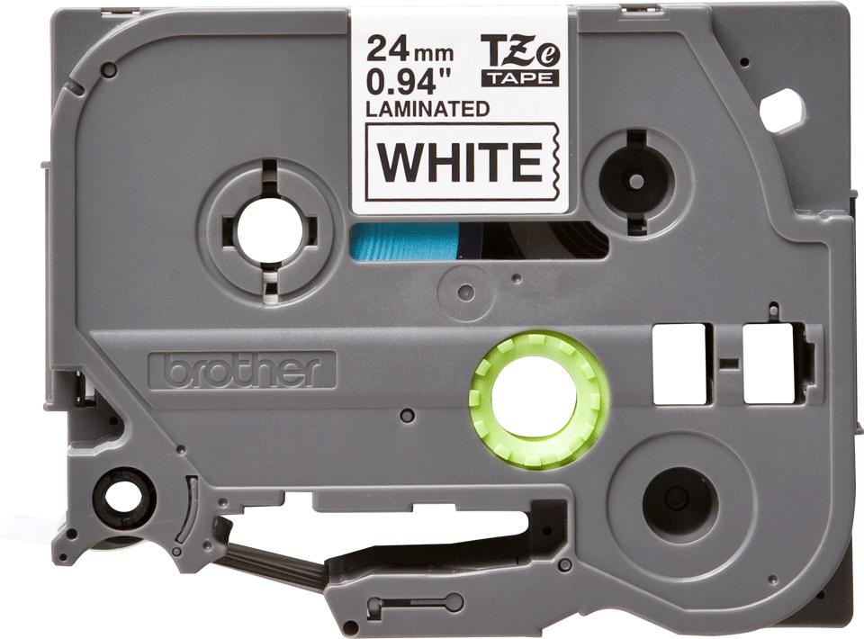 Alkuperäinen Brother TZe251 -tarranauha – musta teksti valkoisella pohjalla, 24 mm 2