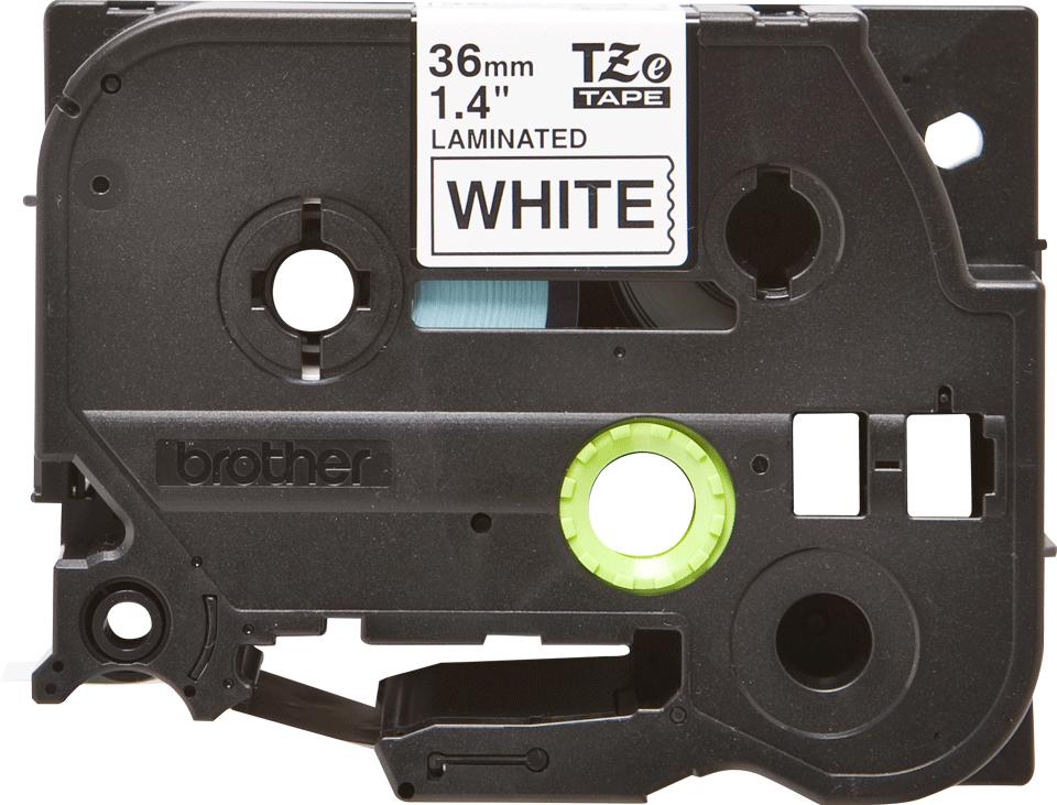 Alkuperäinen Brother TZe261 -tarranauha – musta teksti valkoisella pohjalla, 36 mm 2
