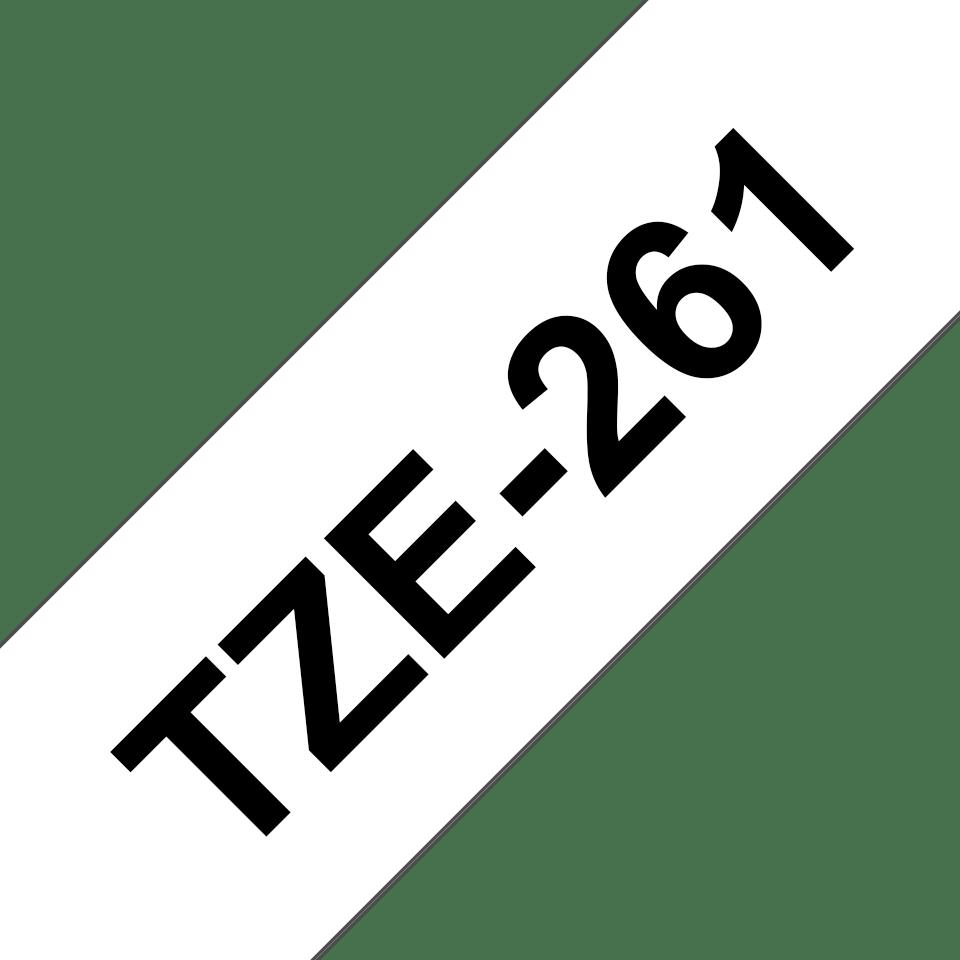 Alkuperäinen Brother TZe261 -tarranauha – musta teksti valkoisella pohjalla, 36 mm