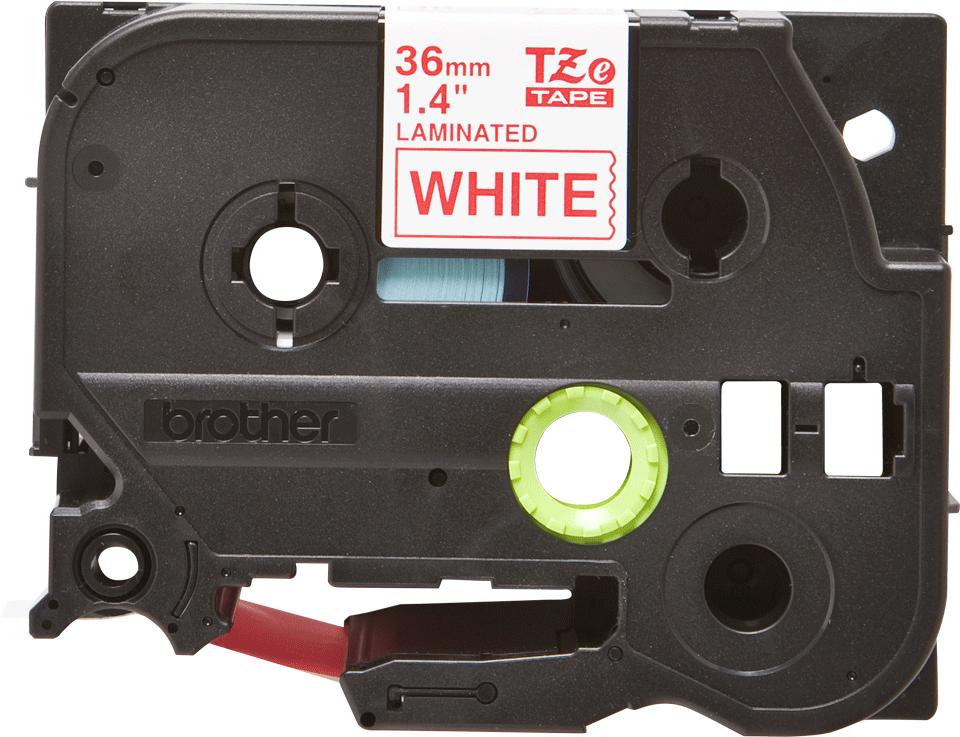 Alkuperäinen Brother TZe262 -tarranauha – punainen teksti valkoisella pohjalla, 36 mm