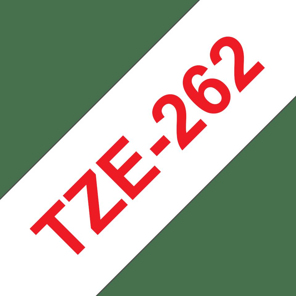Alkuperäinen Brother TZe262 -tarranauha – punainen teksti valkoisella pohjalla, 36 mm 3