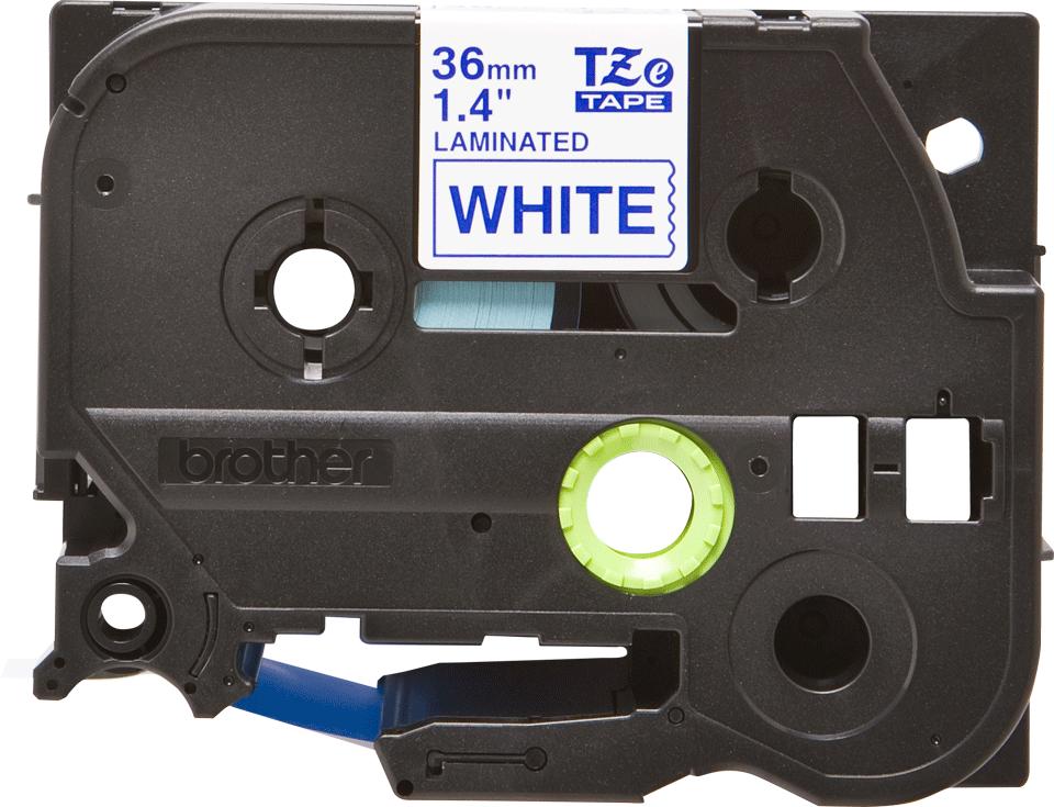 Alkuperäinen Brother TZe263 -tarranauha – musta teksti sinisellä pohjalla, leveys 36 mm