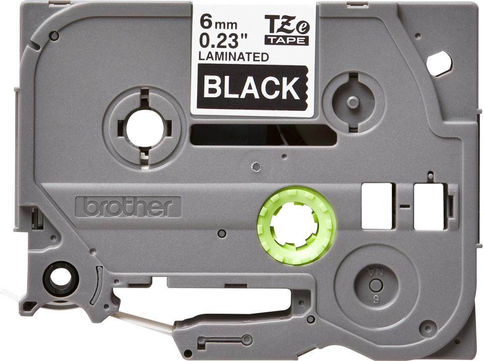 Alkuperäinen Brother TZe315 -tarranauha - valkoinen teksti mustalla pohjalla, 6 mm 2