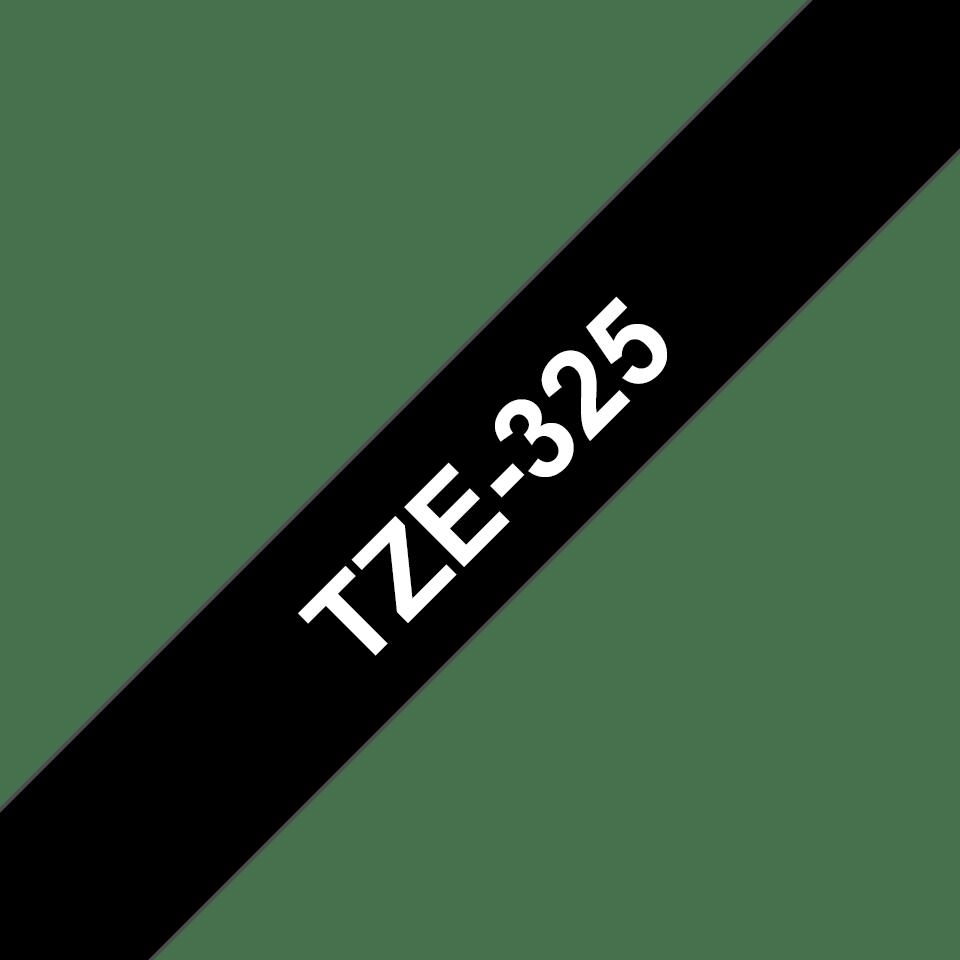 Alkuperäinen Brother TZe325 -tarranauha – valkoinen teksti mustalla pohjalla, 9 mm 3