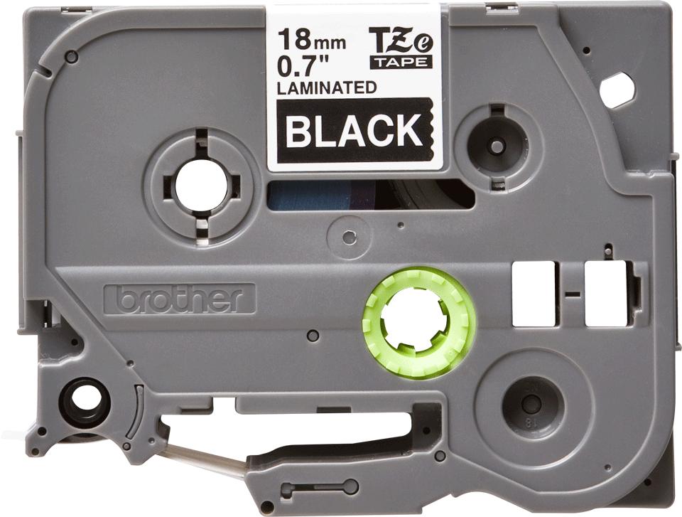 Alkuperäinen Brother TZe345 -tarranauha – valkoinen teksti mustalla pohjalla, 18 mm 2