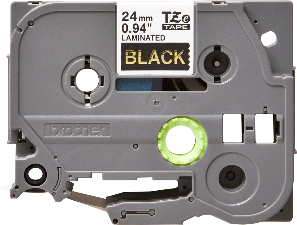 Alkuperäinen Brother TZe354 -tarranauha - kullanvärinen teksti mustalla pohjalla, 24 mm 2